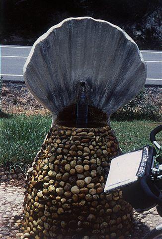 Rast am Muschelbrunnen