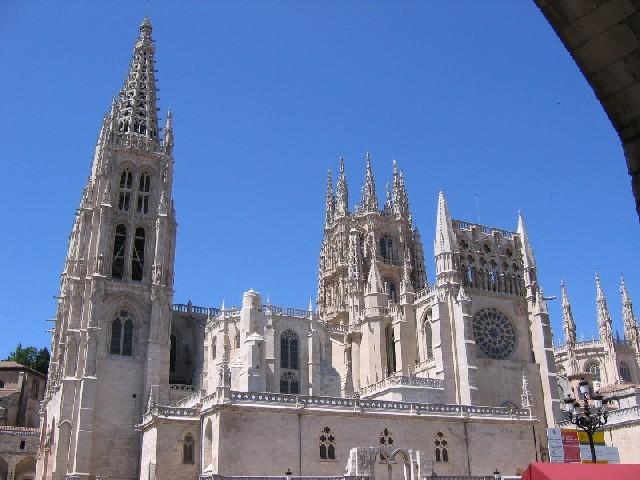 Burgos die Kathedrale von Osten