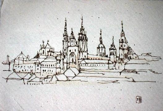 am 19. August 2004 erhielt ich diese Postkarte von Jasuko Hayaschi selbst gemalt