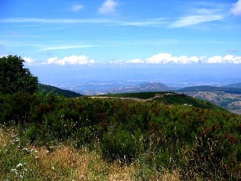 """der Blick vom höchsten Punkt des Camino ins Land der """"Verheißung"""""""