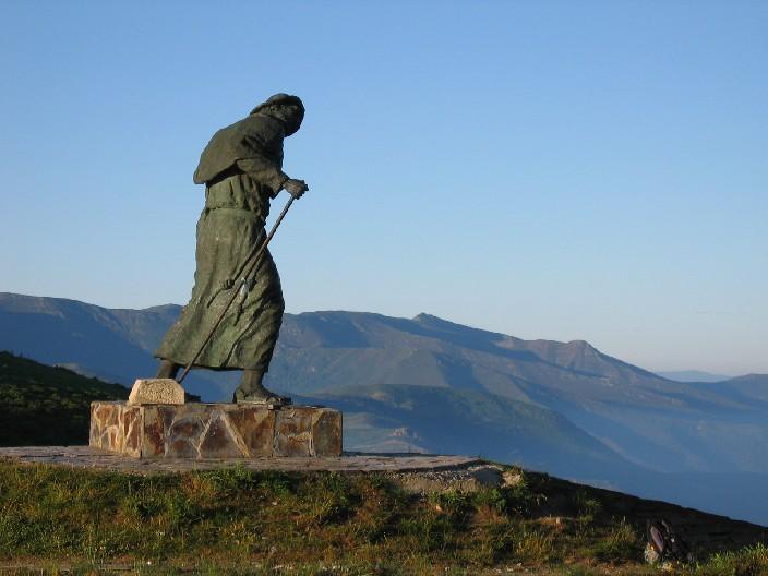 Adònde vai peregrino? oder der ewige Pilger am Alto do Poio