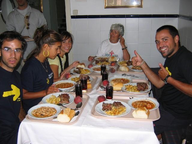 beim gemeinsamen Essen