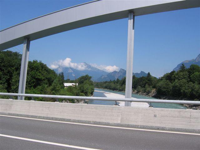 Ausblick von einer Brücke