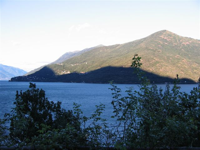 am Abend der Schatten des Monte Giove