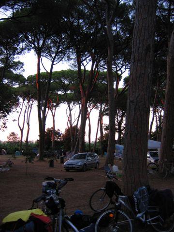 Abendstimmung auf dem Campeggio San Vincenzo