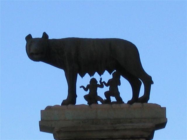 Romulus und Remus mit der Wölfin