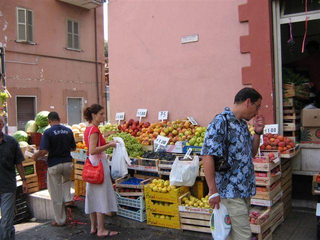 Gemüse und Obst in Ostia Antika