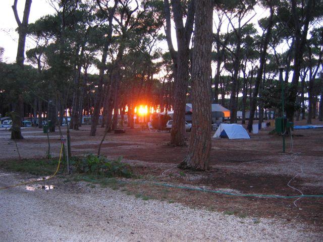 Sonnenuntergang auf Camping Fabulous