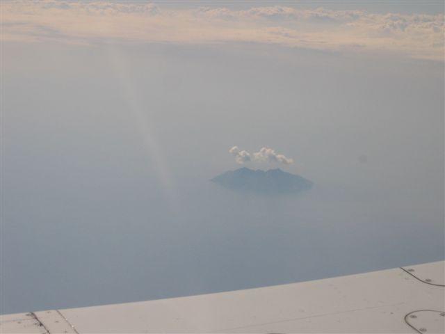 die Insel Giglo hoch über dem Mer